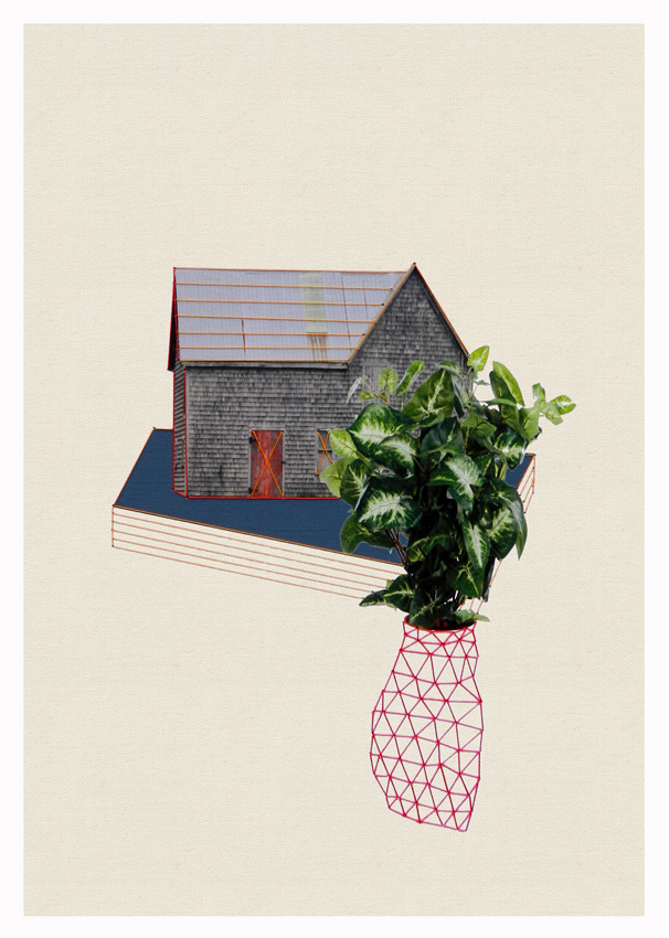 Thread and Paper Works from Happy Red Fish: Happy-Red-Fish_Houses-Plants_05.jpg