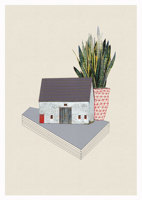 Thread and Paper Works from Happy Red Fish: Happy-Red-Fish_Houses-Plants_06.jpg
