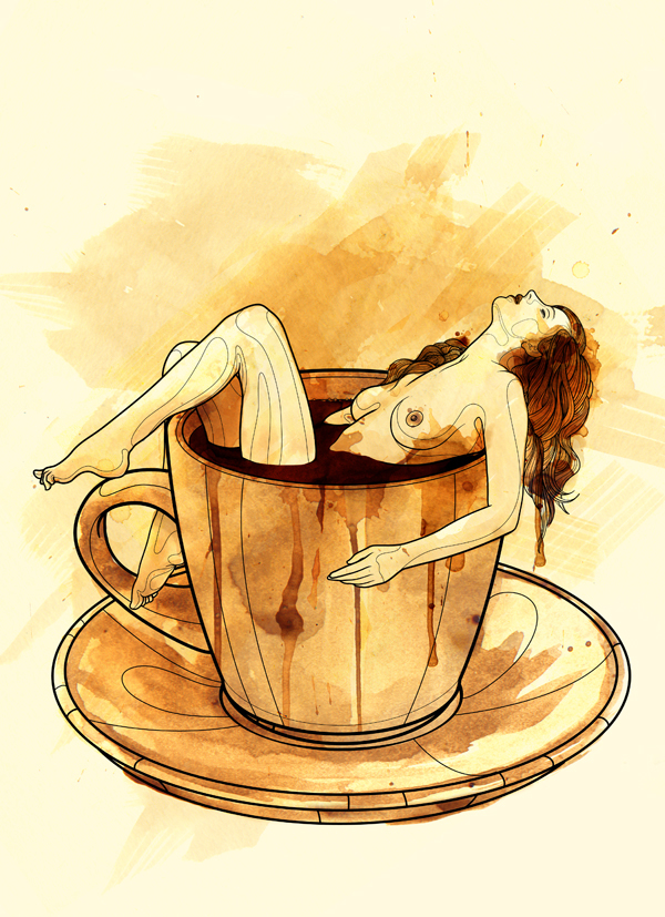 Tavo Montañez Paints With Coffee: 1.jpg