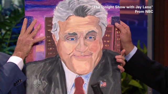 George W. Bush Will Unveil 24 Portraits of World Leaders: 131120170406-newday-must-see-moment-leno-bush-paintings-00003709-horizontal-gallery.jpg