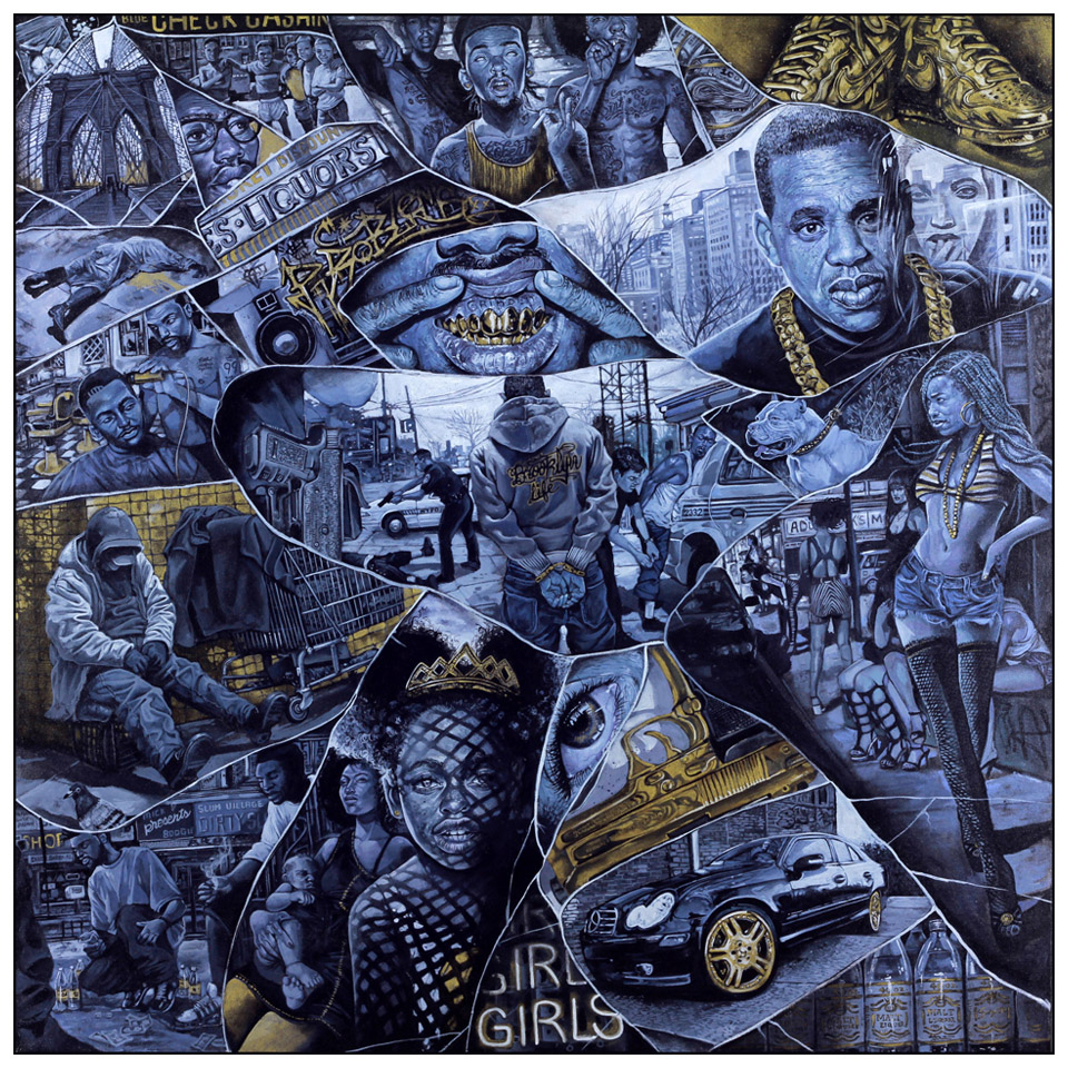 "Serge Gay Jr. ""Gold"" @ Spoke Art, SF: Jay Z.jpg"