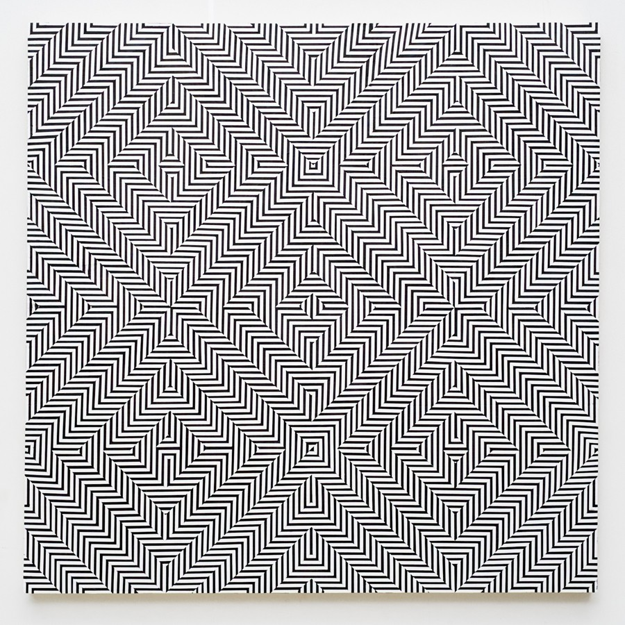 Op-Art by Johnny Abrahams: 4_line-study-in-5-squares_905.jpg