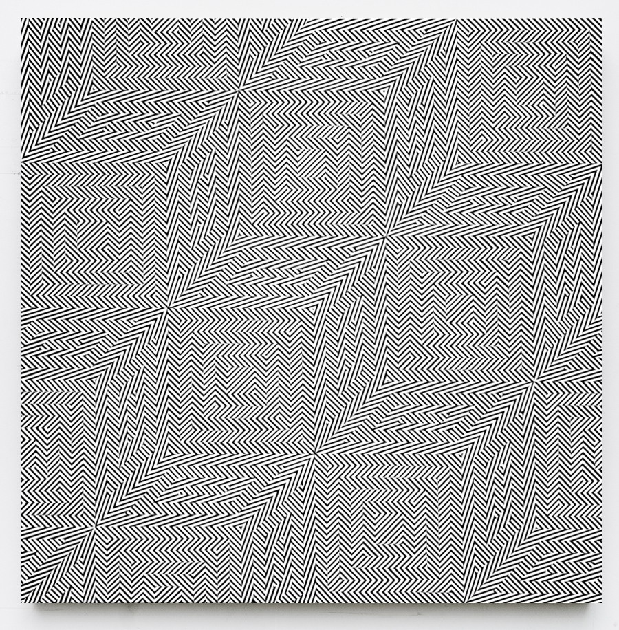 Op-Art by Johnny Abrahams: 4_line-study-in-falling-squares_905.jpg