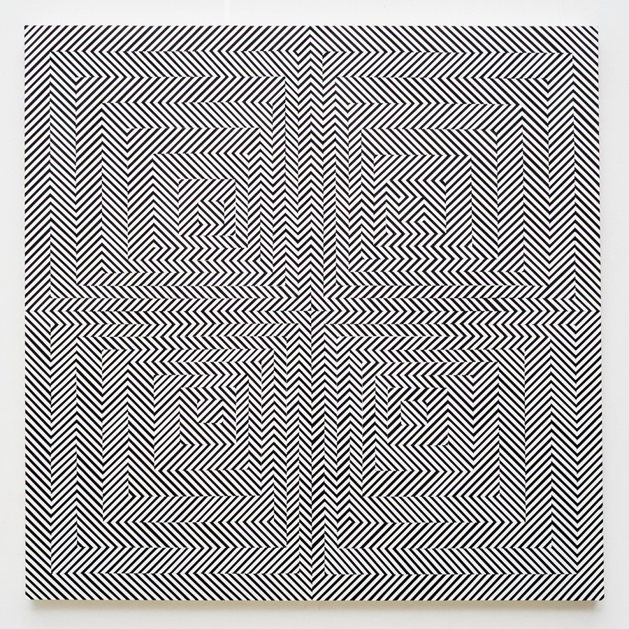 Op-Art by Johnny Abrahams: 4_line-study-in-four-squares-2_905.jpg