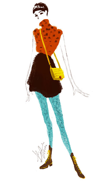 Fashion Illustrations from Bing Liu: Screen shot 2014-04-14 at 11.40.19 AM.png