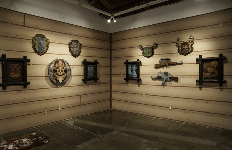 Installation shots: Jeremy Fish @ Mark Moore Gallery, LA: HuntingTrophies1.jpg