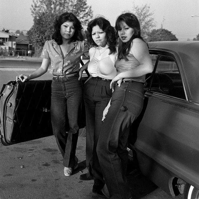 "Janette Beckman ""Rebel Cultures: Punks, Rap and Gangs"" @ HVW8 Gallery, LA: East-Los-Angeles-Gang-Girls-1983-638x640.jpg"