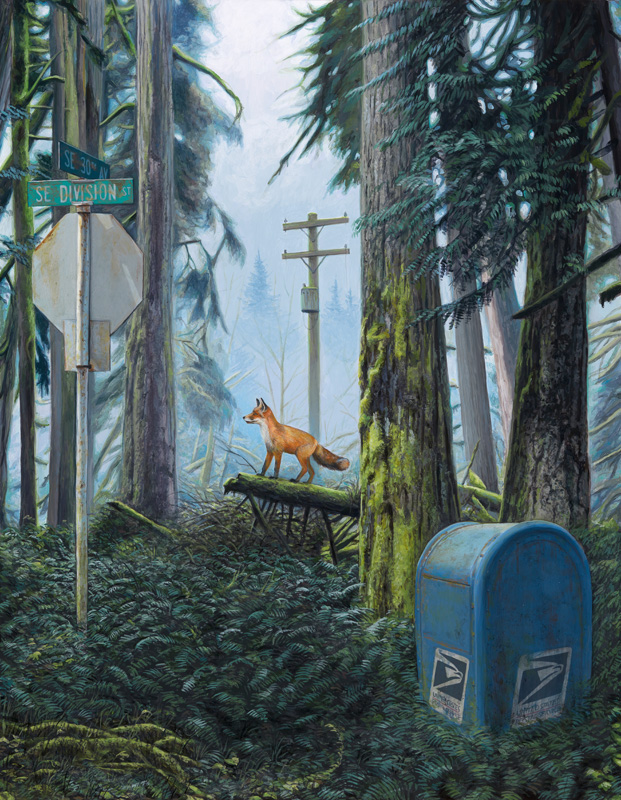 Happy Earth Day: New Paintings from Josh Keyes: Forest 1.jpg