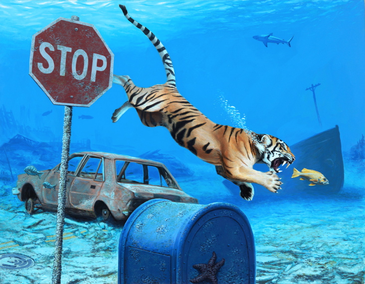 Happy Earth Day: New Paintings from Josh Keyes: Homechase.jpg