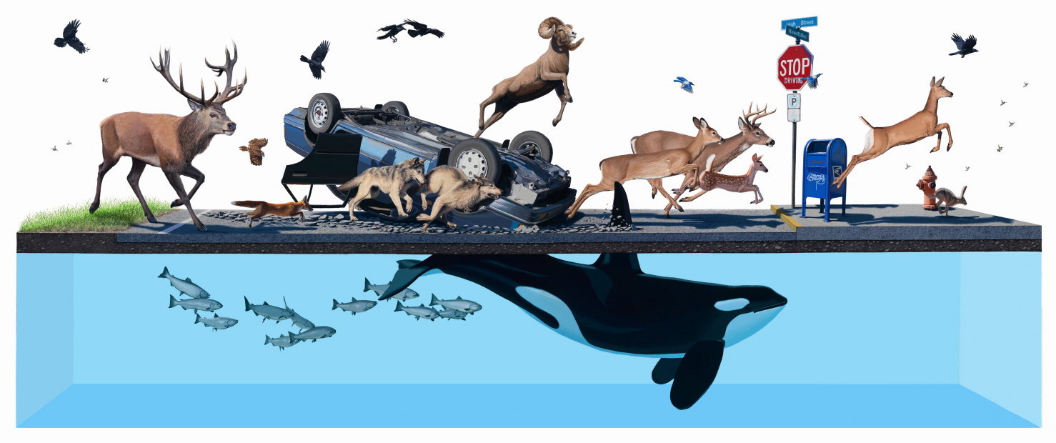 Happy Earth Day: New Paintings from Josh Keyes: NAP Stampede1.jpg