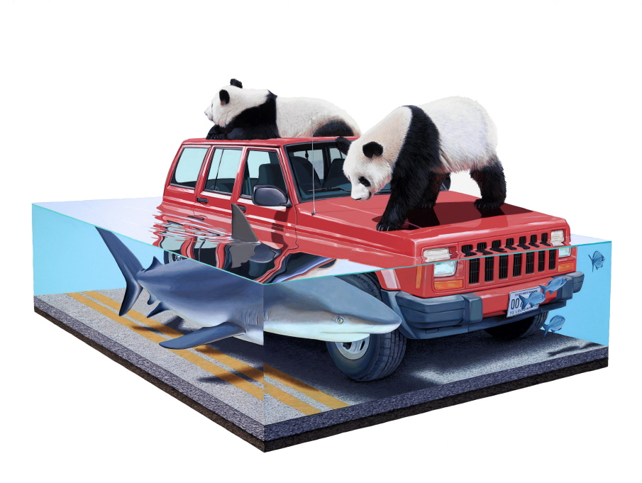 Happy Earth Day: New Paintings from Josh Keyes: NAP Tangled II.jpg