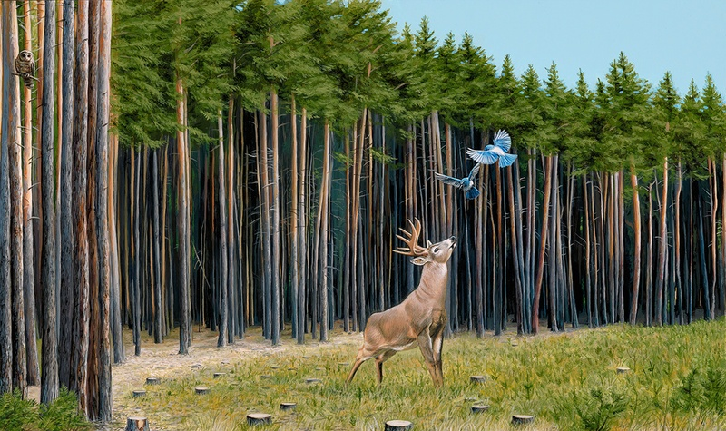 Happy Earth Day: New Paintings from Josh Keyes: The messengers2.jpg