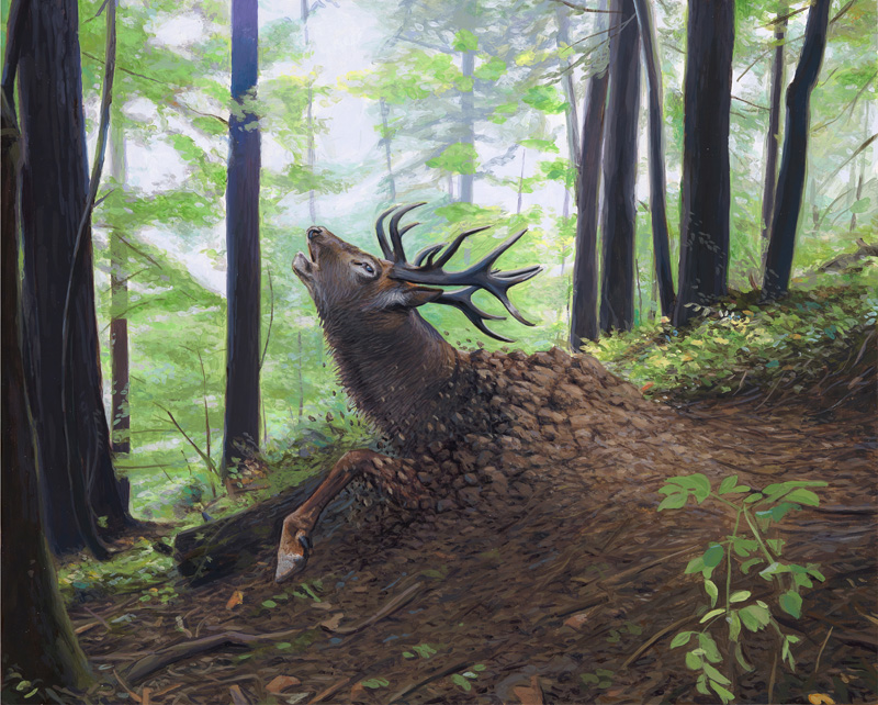 Happy Earth Day: New Paintings from Josh Keyes: Waking1.jpg