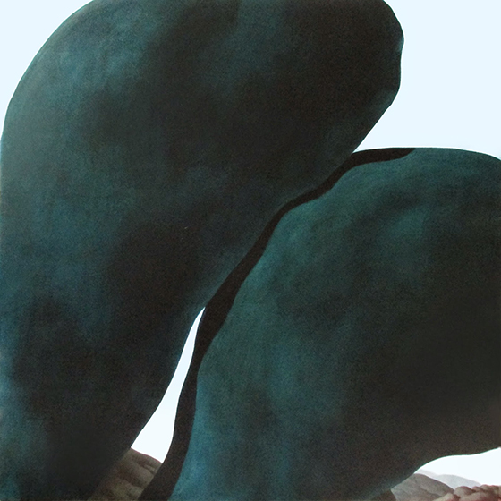 Jordan Kasey's Rock Figures: two ocean colored rocks.jpg