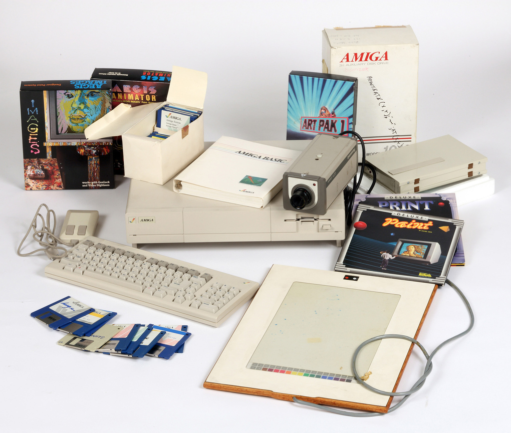 Watch: How Warhol's Amiga Experiments Were Unearthed: 4_Commodore_Amiga_computer_equipment_used_by_Andy_Warhol_1985-86_verge_super_wide.jpg