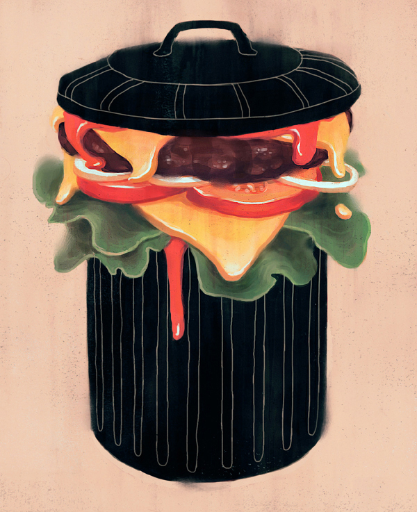 Socially Conscious Illustrations by Fredrik Rattzen: Junk-Food.jpg