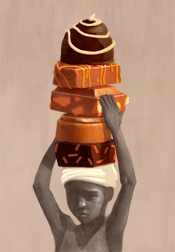 Socially Conscious Illustrations by Fredrik Rattzen: On-Child-Labor-in-Cocoa-Production.jpg
