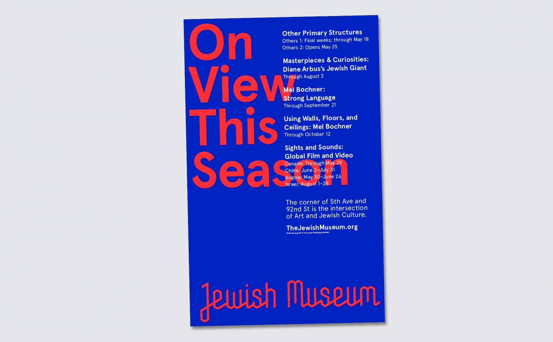 Sagmeister And Walsh For The NY Jewish Museum: JXJM-NYC007.jpg