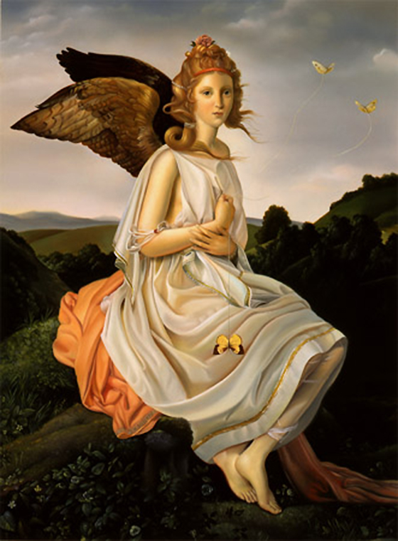 David M. Bowers Narrative Paintings: angel-with-butterflies.jpg