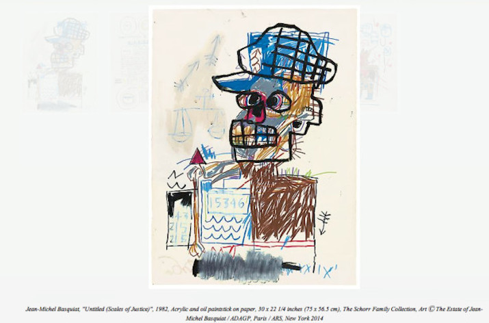 Jean-Michel Basquiat Drawing @ Acquavella Galleries: basquiat-24-unseen-paintings-aacquavella-gallery-1.jpg