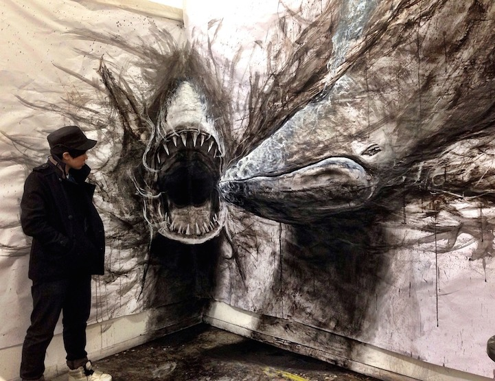 Large-Scale Drawings That Look 3D by Fiona Tang: JuxtapozFionaTang00.jpg