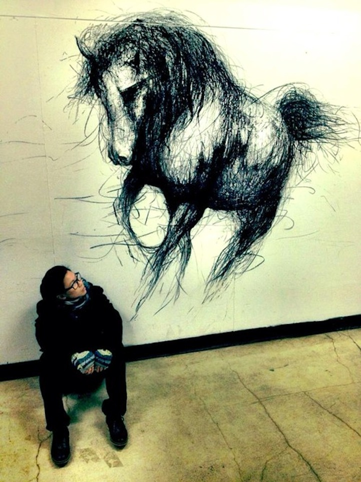 Large-Scale Drawings That Look 3D by Fiona Tang: JuxtapozFionaTang08.jpg