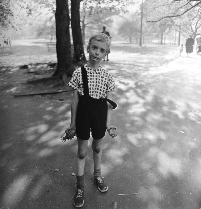 The Strange Characters of Diane Arbus: arbus-kid-grenade-643x670.jpeg