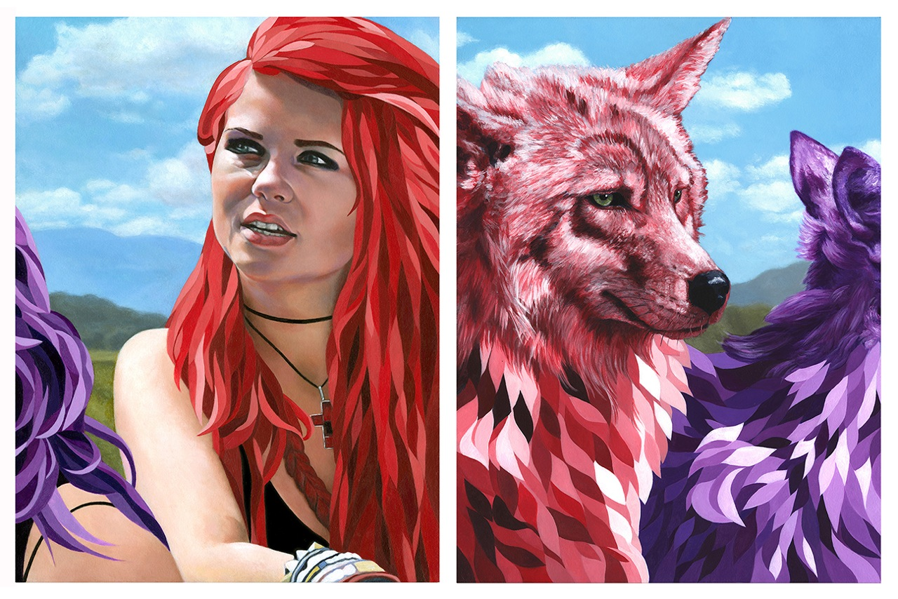 All We Want is Everything @ Gauntlet Gallery, SF: Wolves of Wacken 2.1 (diptych).jpeg