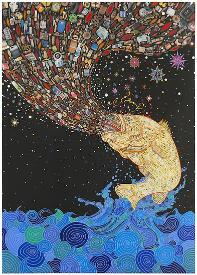 "Fred Tomaselli ""Current Events"" @ James Cohan Gallery: Juxtapoz-Tomaselli004.jpg"