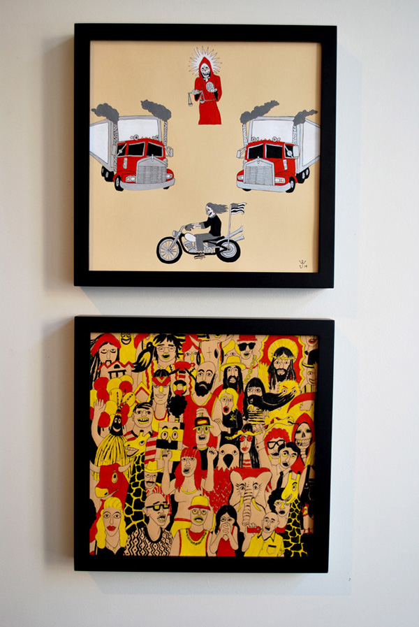 New work by Bill Dunlap & Jake Watling @ Nowheresville Gallery, SF: with_skulls_10.jpg