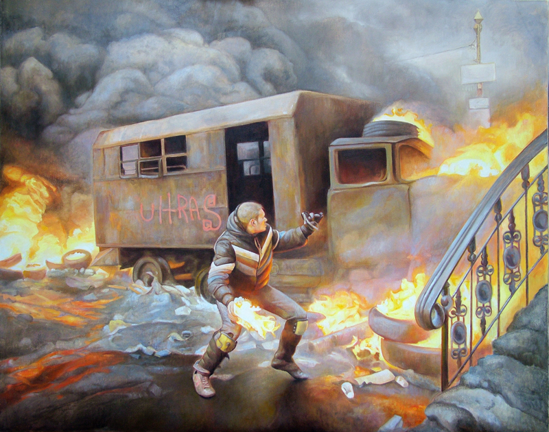 Riot Paintings by David Molesky: -1.jpg