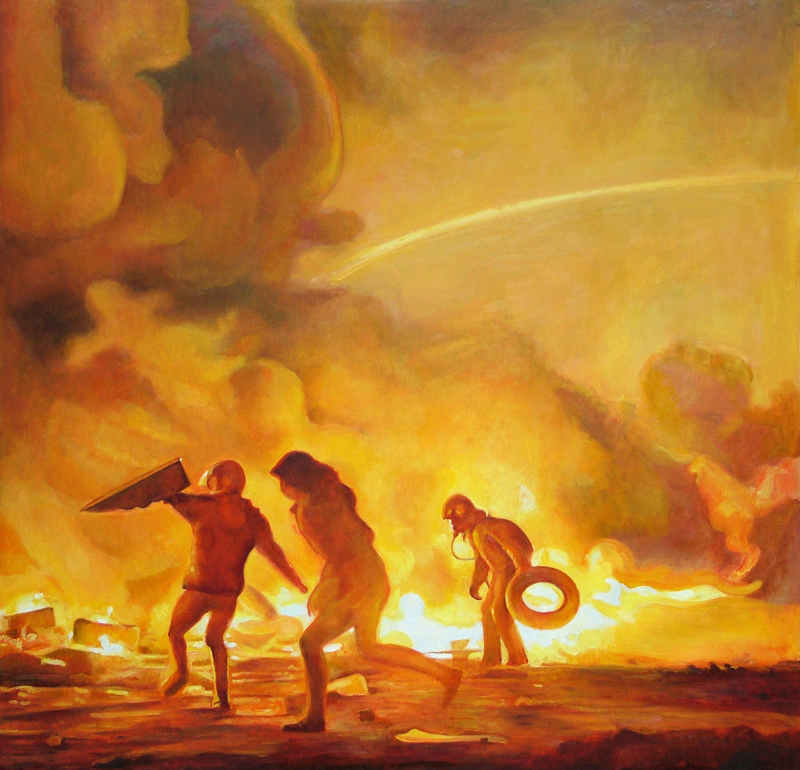 Riot Paintings by David Molesky: ThreeMarauders38x38-2.jpg