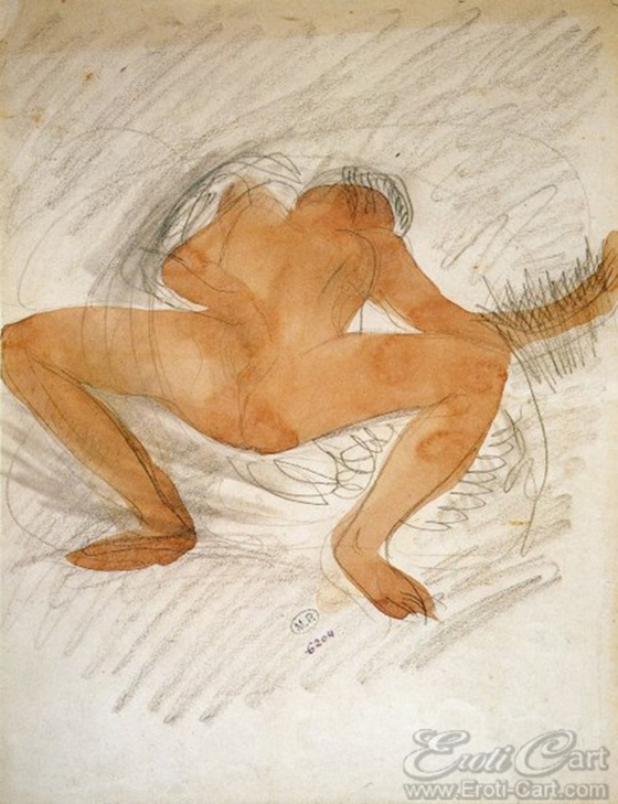 Erotic Drawings by Auguste Rodin: klimt29.jpg