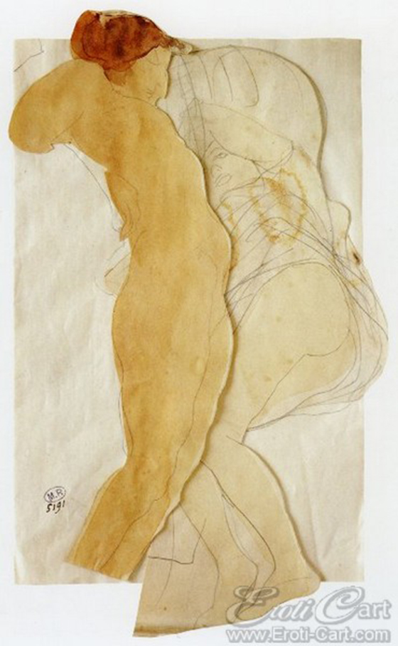 Erotic Drawings by Auguste Rodin: klimt34.jpg