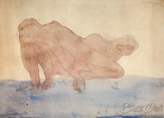 Erotic Drawings by Auguste Rodin: klimt40.jpg