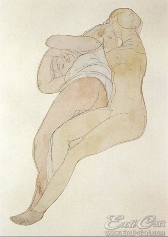 Erotic Drawings by Auguste Rodin: klimt41.jpg