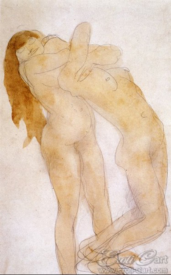 Erotic Drawings by Auguste Rodin: klimt45.jpg