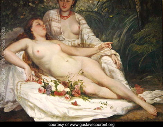 Gustave Courbet's Classical Erotica: Bathers-or-Two-Nude-Women,-c.1858.jpg