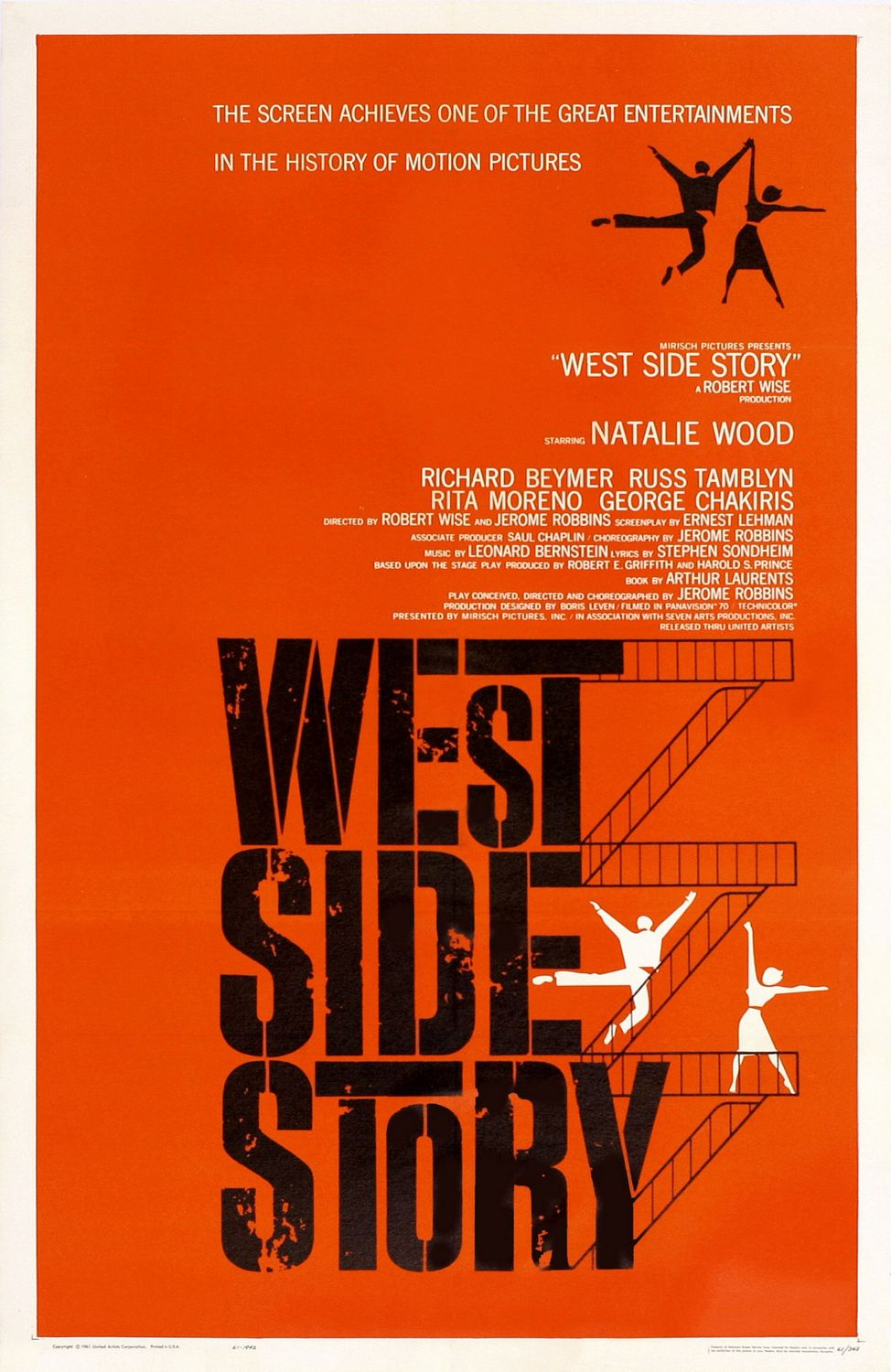 American Graphic Arts Legend, Saul Bass, would have been 94 today: 1961 West Side Story.jpg