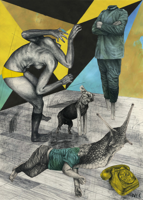 Bizarre and Disturbing Illustrations by Nicola Alessandrini: bruit.jpg