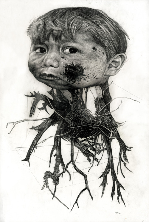 Bizarre and Disturbing Illustrations by Nicola Alessandrini: creaturafragile1.jpg