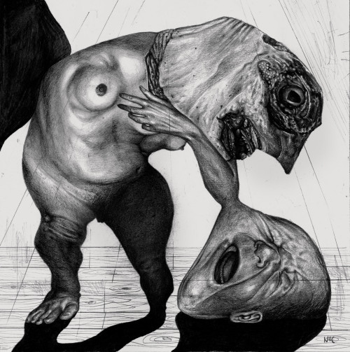 Bizarre and Disturbing Illustrations by Nicola Alessandrini: mostroo3.jpg