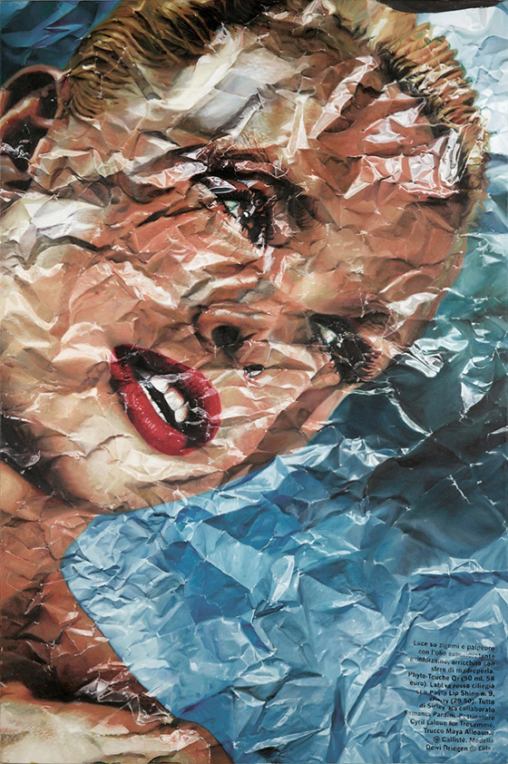 Stefania Fersini's Wrinkled Magazine Paintings: fersini03.jpg