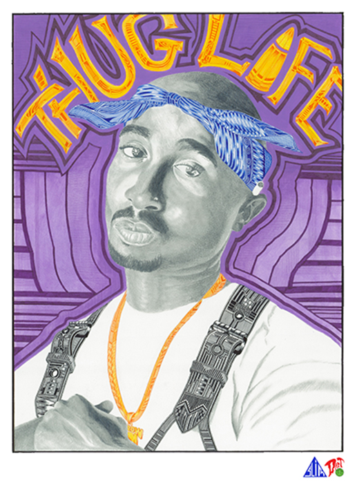 Prismacolor Portraits from Darren and Donovan Downing: tupac-portrait.png