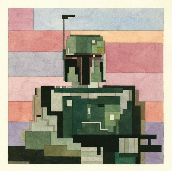 Adam Lister's 8-Bit Star Wars Series: Adam_Lister_cloud_city_Boba_Fett.JPG