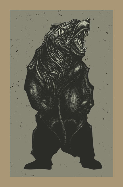 Works from Poster Illustrator John Vogl: BEAR_ART_PRINT.jpg