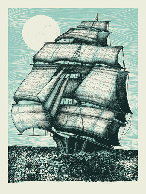 Works from Poster Illustrator John Vogl: CUTTY_SARK_PREVIEW.jpg