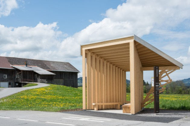 Bus Stops in Krumbach, Austria: bus-stops_amateur-architecture-studio-wang-shu.jpg