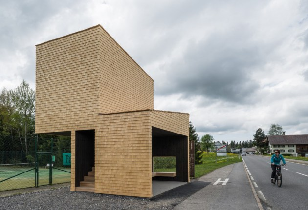 Bus Stops in Krumbach, Austria: bus-stops_rintala-eggertsson-architects.jpg