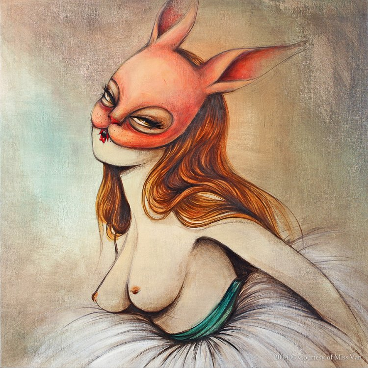 Miss Van's Masked Women: missvan-courtesy-bailarinas_painting_11.jpg
